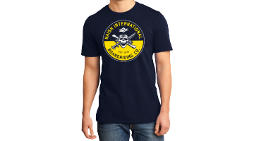 Skull Badge T-Navy -XL picture