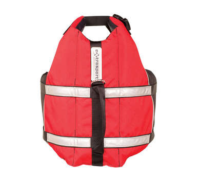 Deluxe Dog PFD L - Red/Black