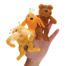 Dr. Seuss THE LORAX Finger Puppet Set