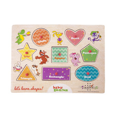 Baby Genius Let's Learn Shapes Wooden Puzzle