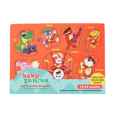 Baby Genius Let's Learn Sounds Wooden Puzzle
