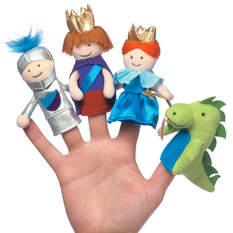 A Day at the Castle Boxed Finger Puppet Set
