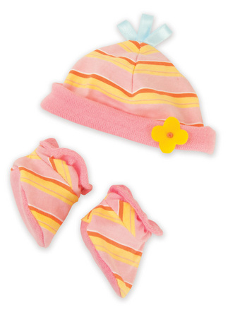 Baby Stella Booties & Bonnet Set