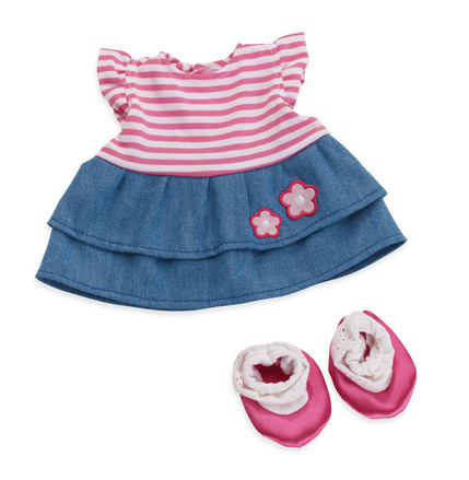 Baby Stella Splendid Stripes & Denim Dress
