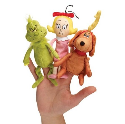 Dr. Seuss The Grinch Finger Puppet Set picture