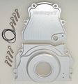 Two-Piece Timing Cover; GEN IV LS Engines; Cam Sensor in Cover- Billet Aluminum