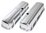 """""""TRADITIONAL"""" Design Valve Covers; TALL; 1965-2000 BB Chevy 396-502-CHROME"""