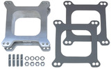"""2"""" Tall, HOLLEY/AFB 4BBL SPACER -Open- CAST ALUMINUM Carburetor Spacer"""