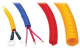 "BLACK Wire Harness; Convoluted; 1/4"" Diameter- (10 ft)"
