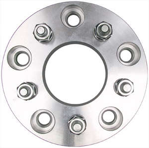 5 LUG Wheel Adapters; 4.75&quot; WHEEL Bolt Circle; 5.5&quot; HUB Bolt Circle; 12mmx1.5 Threads (pr)- Alum. picture