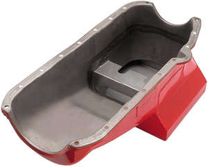 STREET PERFORMANCE Oil Pan; 55-78 SB Chevy; Driver's Side Dipstick; 7 Qt. picture
