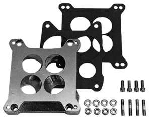 "7/8"" Tall, Holley 4BBL to Quadrajet Manifold Carburetor Adapter -Cast Aluminum picture"