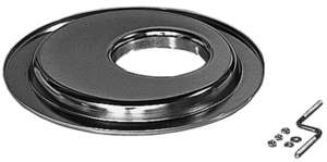 "FLAT, OFFSET Air Cleaner Base (GM with Large HEI); 14"" diameter; 5-1/8"" Neck- CHROME picture"