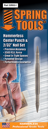 "Combination Center Punch & 2/32"" Nail Set"
