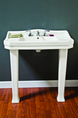 PORCELAIN CONSOLE SINK WITH LEGS