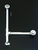 CHROME EXTENDED TOE TAP WASTE & OVERFLOW WASTE & DRAIN