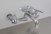 CHROME WALL MOUNT KITCHEN FAUCET, 8""