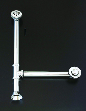 MATTE NICKEL TOE TAP WASTE & OVERFLOW WASTE & DRAIN picture