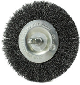 "4"" Crimped Wire Brush on 1/4"" Hex Shaft - .012 Coarse Wire"