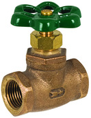 "20.40: 1/2"" FIP Compression Stop Valve with Red Handle"