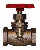 "22.40: 1/2"" FIP Compression Stop & Waste Valve with Red Handle"