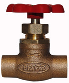 "20.41: 1/2"" SWT Compression Stop Valve with Red Handle"