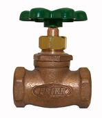 "22.60: 3/4"" FIP Compression Stop & Waste Valve with Red Handle"