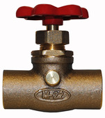 "22.61: 3/4"" SWT Compression Stop & Waste Valve with Red Handle"