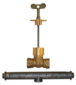 C-71BR: Hearthglow Log Lighter Kit; C-67 Gas Valve w/Polished Brass Escutcheon, C-69 Burner Bar, Hearth Key
