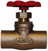 "20.61: 3/4"" SWT Compression Stop Valve with Red Handle"