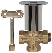 "C-64BR: 3 Way Log Lighter Valve; 1/2"" FPT; Polished Brass Escutcheon"