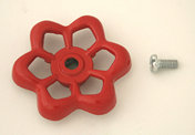 630-0045: Red Handle and screw kit for small valves