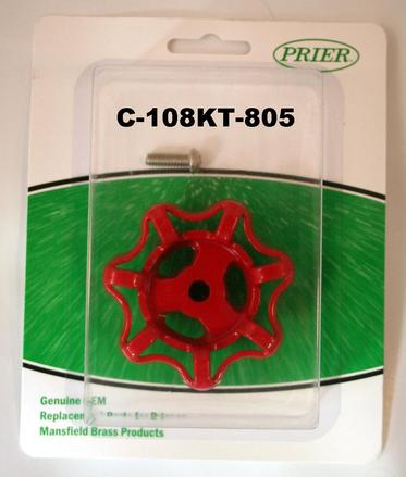 C 108kt 805 Red Handle Amp Screw Kit For C 108 Prier Products