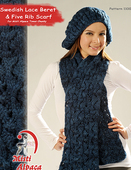 1100 Swedish Lace Beret & Five Rib Scarf