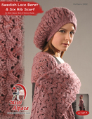 1102 Swedish Lace Beret & Six Rib Scarf