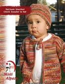 1079 Heirloom Smocked Child Sweater & Hat