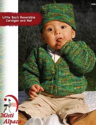 1080 Little Boy's Reversible Cardigan & Hat picture