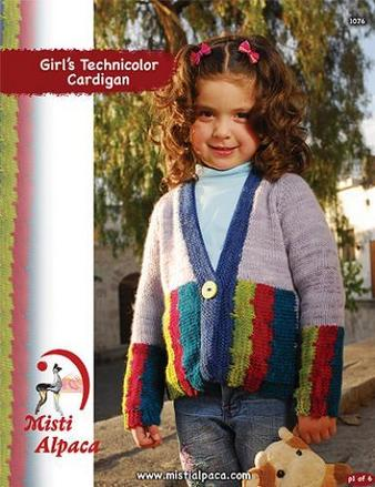 1076 Girl's Tonos Technicolor Dream Cardigan picture