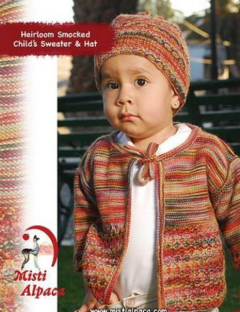 1079 Heirloom Smocked Child Sweater & Hat picture