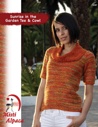 1087 Sunrise in the Garden Tee & Cowl picture