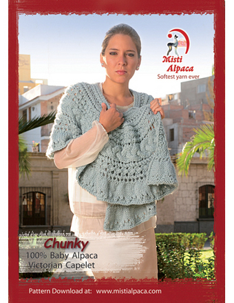 1091 Victorian Capelet, pattern for Misti Chunky picture