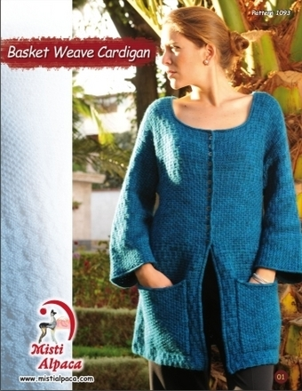 1093 Basket Weave Cardigan picture