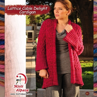 1092 Lattice Cable Delight Cardigan picture