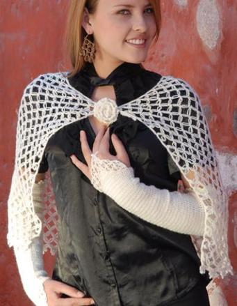 640 Christal Capelet Set - Crocheted picture
