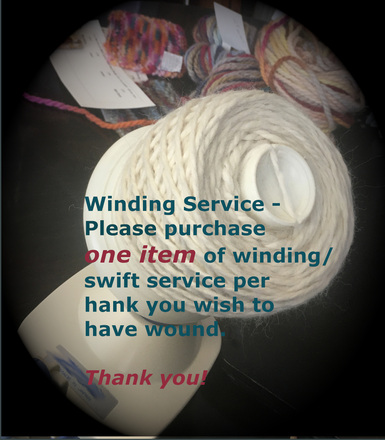 Winding/Swifting Service per hank picture