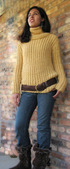 645 Detachable Turtle Neck Sweater