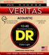 DR Strings VTA-10 VERITAS™ Acoustic Guitar String 10-48
