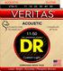 DR Strings VTA-11 VERITAS™ Acoustic Guitar String 11-50