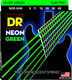 NGE7-9 NEON Hi Def Green 7 String Electric Lite 9-52