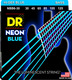 NBB6-30 NEON Blue Bass 6 String Medium 30-125